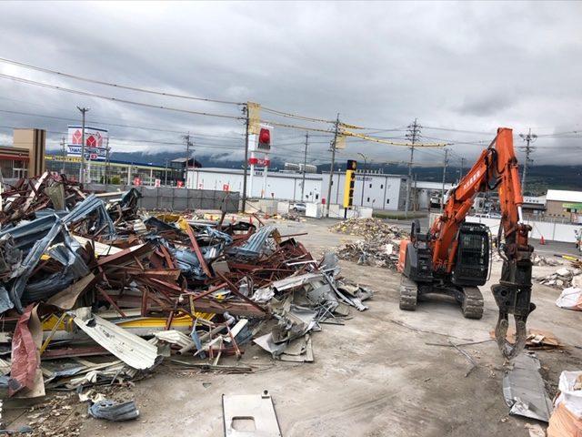 塩尻市 店舗・倉庫解体工事